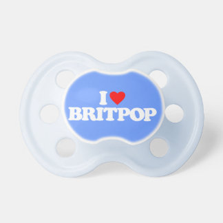 私はBRITPOPを愛します ベビーおしゃぶり