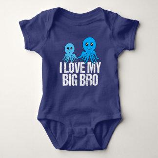 私はBroの私の大きいかわいい弟を愛します ベビーボディスーツ