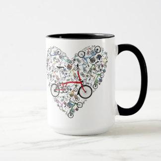 私はBromptonのバイクを愛します マグカップ