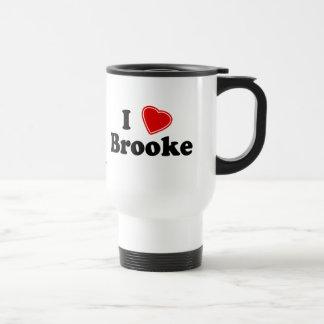 私はBrookeを愛します トラベルマグ