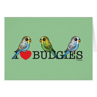 私はBudgiesを愛します カード