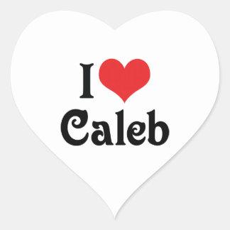 私はCalebを愛します ハートシール