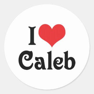 私はCalebを愛します ラウンドシール