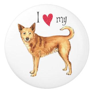 私はCanaan私の犬を愛します セラミックノブ