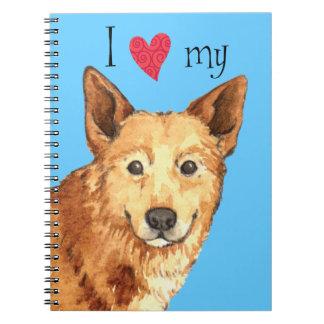 私はCanaan私の犬を愛します ノートブック