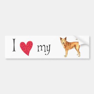 私はCanaan私の犬を愛します バンパーステッカー