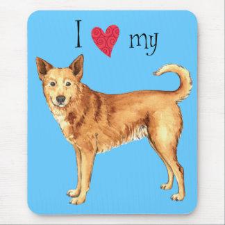 私はCanaan私の犬を愛します マウスパッド
