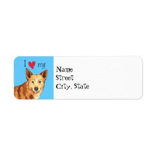 私はCanaan私の犬を愛します 返信用宛名ラベル
