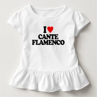 私はCANTEのフラメンコを愛します トドラーTシャツ