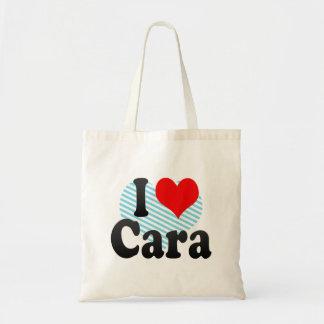 私はCaraを愛します トートバッグ