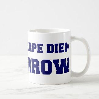 私はCarpe Diem明日 コーヒーマグカップ