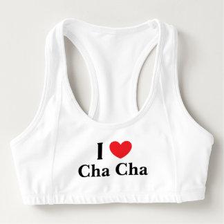 """""""私はCha Cha""""をAloのスポーツのブラ愛します スポーツブラ"""