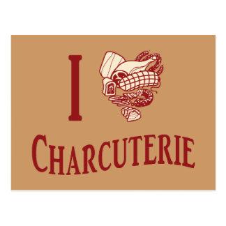 私はCharcuterieを愛します ポストカード