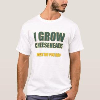 私はCheeseheadsを育てます Tシャツ