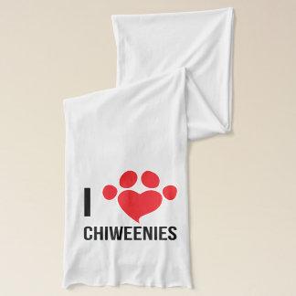 私はCHIWEENIESのスカーフを愛します スカーフ
