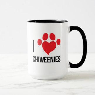 私はCHIWEENIESのマグを愛します マグカップ
