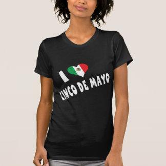 私はCinco deメーヨーの女性Tシャツを愛します Tシャツ