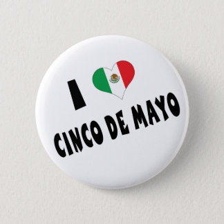 私はCinco deメーヨーを愛します 5.7cm 丸型バッジ