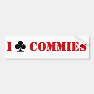 私はCommiesを協力させます バンパーステッカー