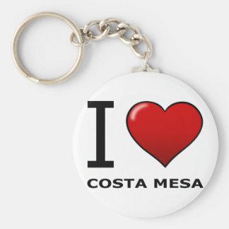 私はCOSTA MESA、カリフォルニア-カリフォルニア--を愛します キーホルダー