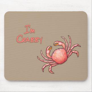 私はCrabbyです マウスパッド