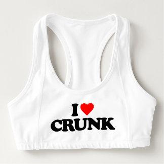 私はCRUNKを愛します スポーツブラ