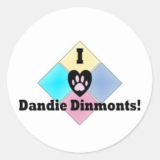 私はDandie Dinmontsを愛します ラウンドシール