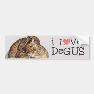 私はDegus - Deguの山を愛します バンパーステッカー