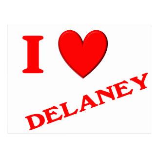私はDelaneyを愛します ポストカード