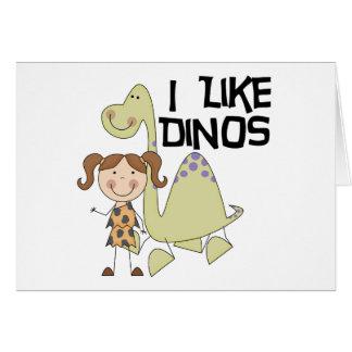 私はDinos女の子のTシャツおよびギフトを好みます カード