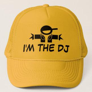 私はDJの身に着けているヘッドホーンが付いているDJの帽子 の帽子です キャップ