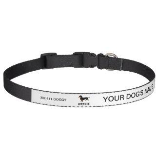 私はDoxie私の犬-かわいいダックスフント--を愛します ペット首輪