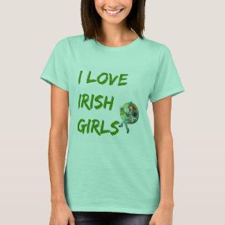 「私はdpの市場によってアイルランドの女の子」のTシャツ愛します Tシャツ