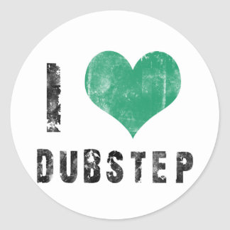 私はDubstepを愛します ラウンドシール