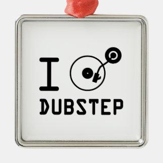 私はDubstep/I愛Dubstep/IのハートDubstepを遊びます メタルオーナメント