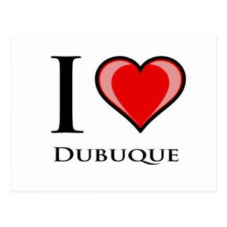 私はDubuqueを愛します ポストカード