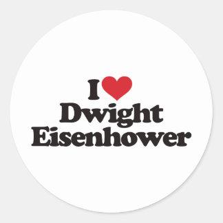 私はDwight Eisenhowerを愛します ラウンドシール