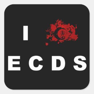 私はECDSの正方形のステッカーを愛します スクエアシール