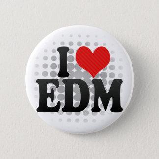 私はEDMを愛します 5.7CM 丸型バッジ
