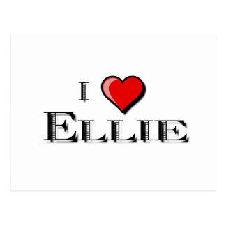 私はEllieを愛します ポストカード