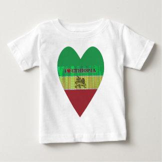 私はEthiopia.pngを愛します ベビーTシャツ