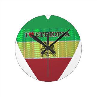 私はEthiopia.pngを愛します ラウンド壁時計