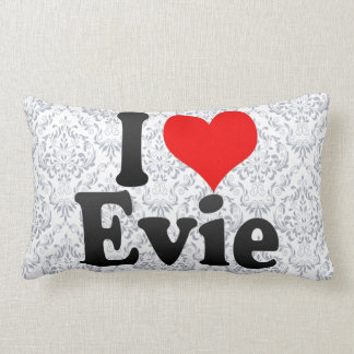 私はEvieを愛します ランバークッション