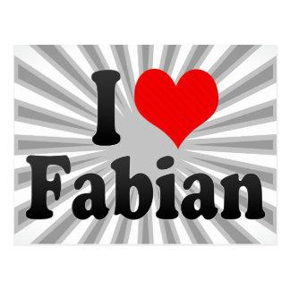 私はFabian愛します ポストカード