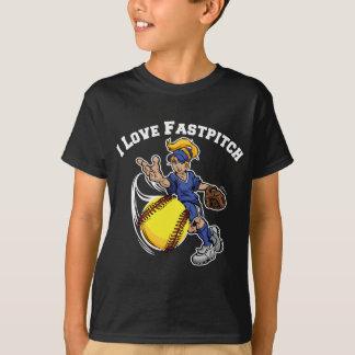 私はFastpitch、blue2を愛します Tシャツ