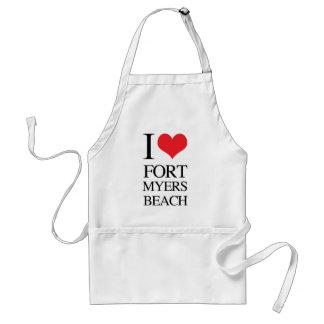 私はFort Myersのビーチを愛します スタンダードエプロン