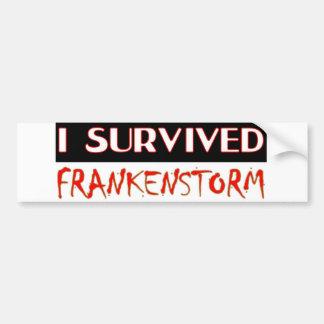 私はFRANKENSTORMを2012年の嵐生き延びました バンパーステッカー
