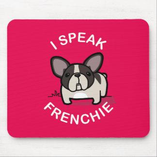 私はFrenchie -ピンク--を話します マウスパッド