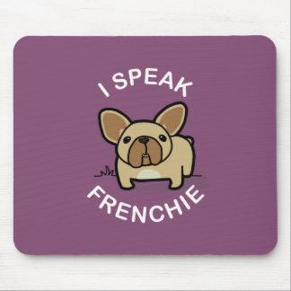 私はFrenchie -紫色--を話します マウスパッド