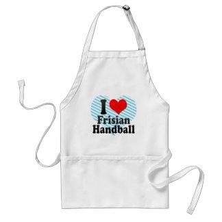 私はFrisianのハンドボールを愛します スタンダードエプロン